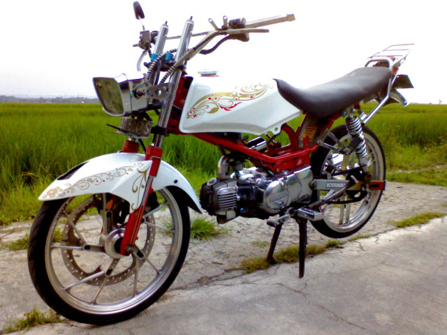 modifikasi motor honda win again title=