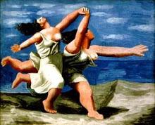 Dos mujeres corriendo en la playa, de Pablo Picasso