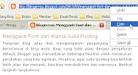 Membuat Daftar Artikel dalam Posting