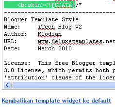 Percepat Loading Blog Anda dengan Mengompress Kode CSS Template