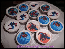 spiderman edible image cupcakes