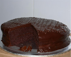 Chocolate Moist Cake with choc ganache