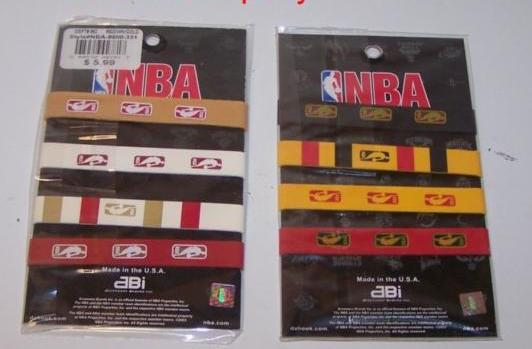 Licensed NBA Wristbands
