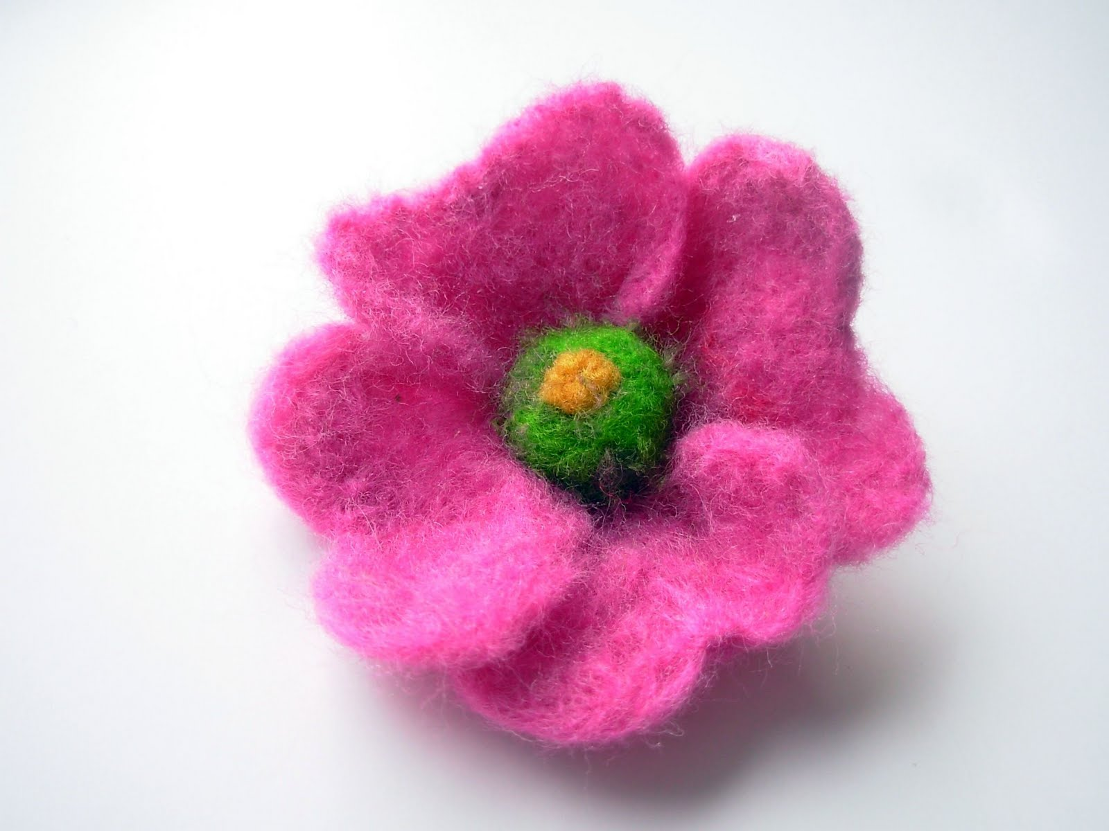 Crochet Flowers Playing with felt