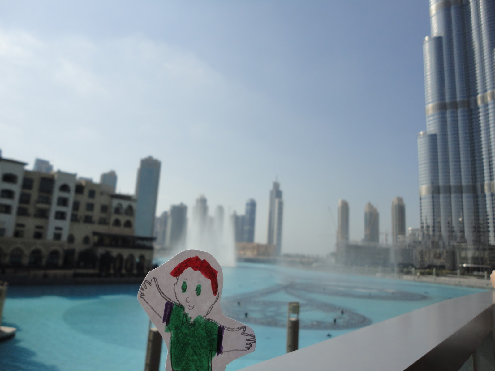 Here's Flat Stanley in Dubai.