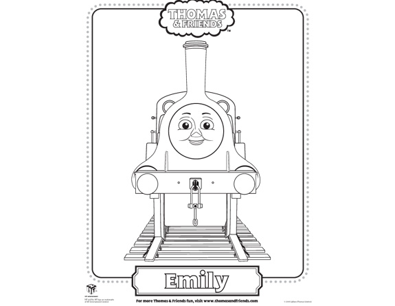 emily train coloring pages - photo#1