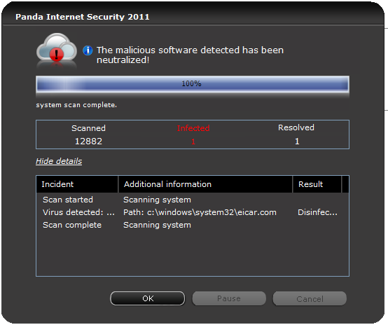 10. Последняя. Panda Internet Security 2011 Key features.