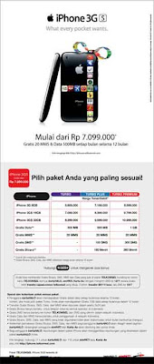 Paket iPhone 3GS Telkomsel
