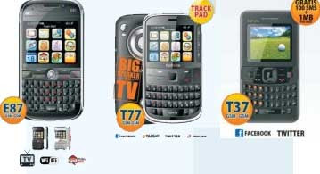 TiPhone E87, T77 and T37