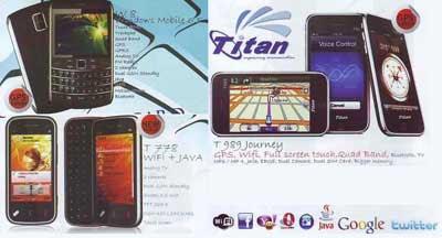 Titan W8, Titan T778 and Titan T989 Journey