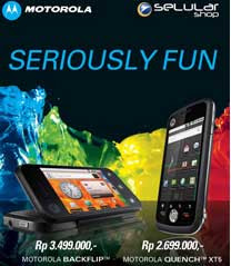 harga promo Motorola BackFlip and Motorola Quench
