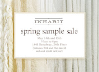 Inhabit Spring Sample Sale starts 5/14! featured on Shopalicious.com