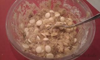 Galletas de chocolate blanco y pistachos