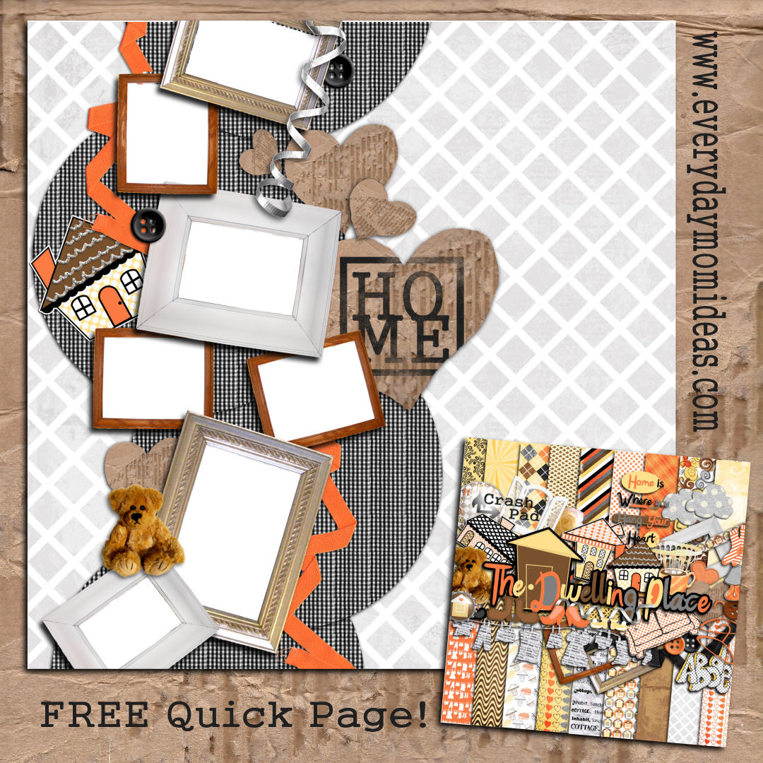 Digital scrapbooking kits free all about scrapbooking ideas - The Dwelling Place Quick Page Free Digital Scrapbooking