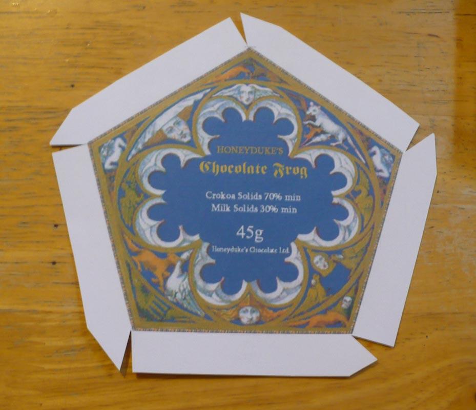 Chocolate Frog Box Template Printable