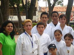Con grupo de Karate