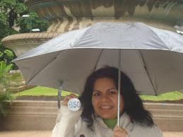 Por el 350 bajo la lluvia