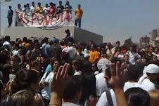 Estudiantes protestan