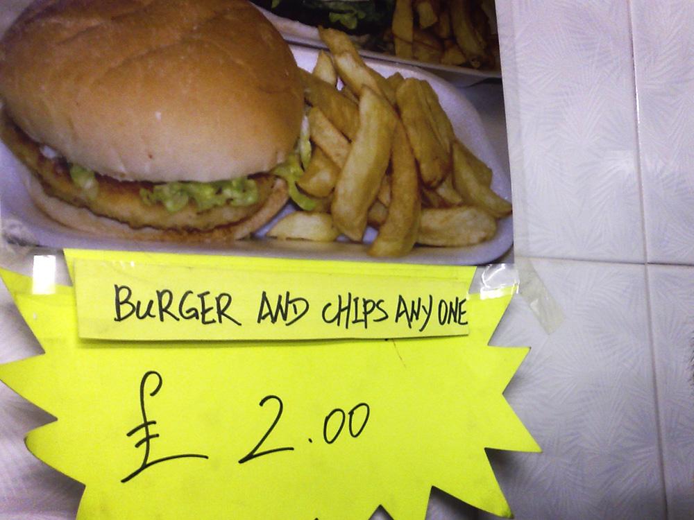 Burger And Chips Anyone
