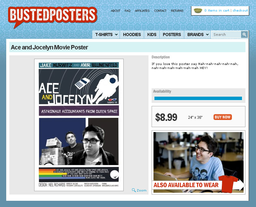 Ace and Jocelyn Poster for Sale