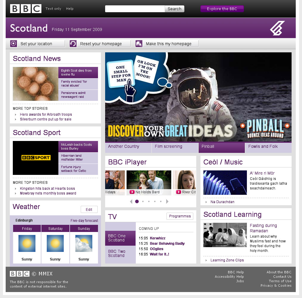 BBC Scotland Homepage