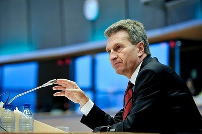 Günther Oettinger, Commissioner-designate for Energy in Brussels, 14 January 2009 (Photo: European Parliament)