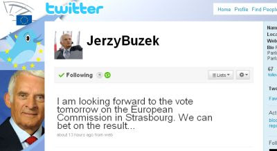 Jerzy Buzek's Twitter Page (Photo: Screengrab)