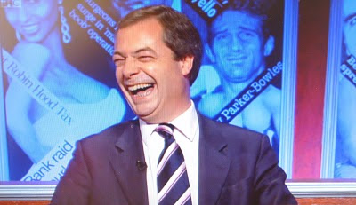Nigel Farage on Have I Got News For You? (Photo: screengrab)