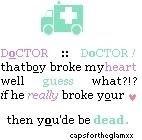 Redbloodsnow's Stuffs - doc & heartbreaks patient