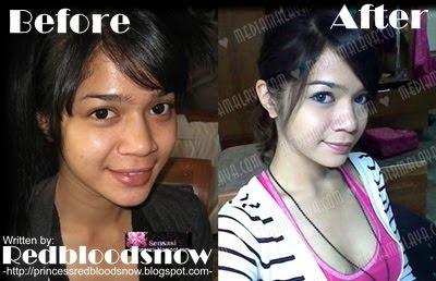 Walaupun jauh perbezaan antara natural face n fake face. Zie still gak ...