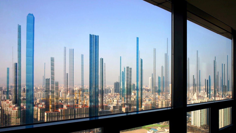 City Glass Windows : Jaewook lee city through window
