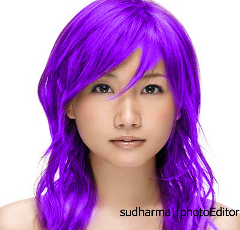 tutorial mengubah warna rambut di photoshop untuk pemula