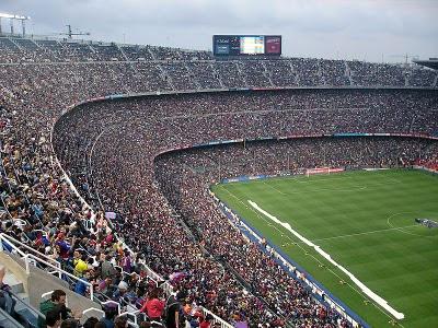 fotografia del estadio campo nou