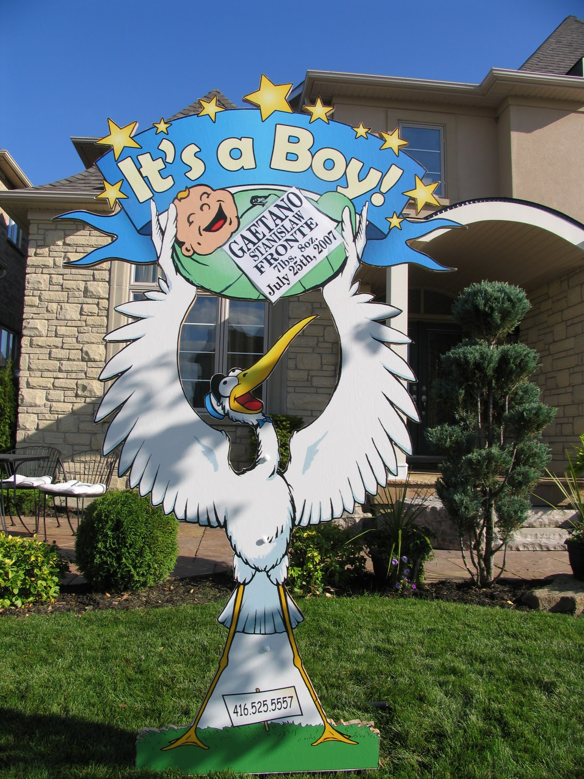 TheStorkMarket Lawn Storks Birth Announcements Stork rental – Toronto Birth Announcements