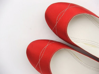 ECO FRIENDLY VEGAN SATIN FLAT SHOES