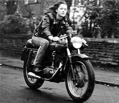 Girl on bike photo