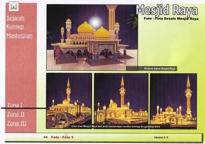 Rancangan Masjid Raya Pekanbaru setelah di Revitalisasi