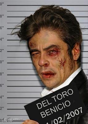 Del Toro, Photoshopped Celebrity Mugshots