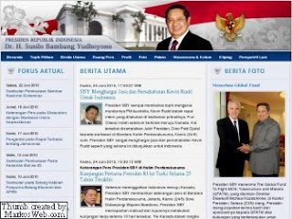 Www.presidenri.go.id Tempat Promosi Album SBY, Rinduku Padamu