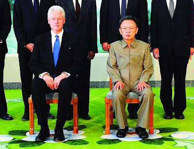 Kim Jong Il  with Bill Clinton