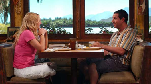 Scene from 50 First Dates with Drew Barrymore and Adam Sandler.