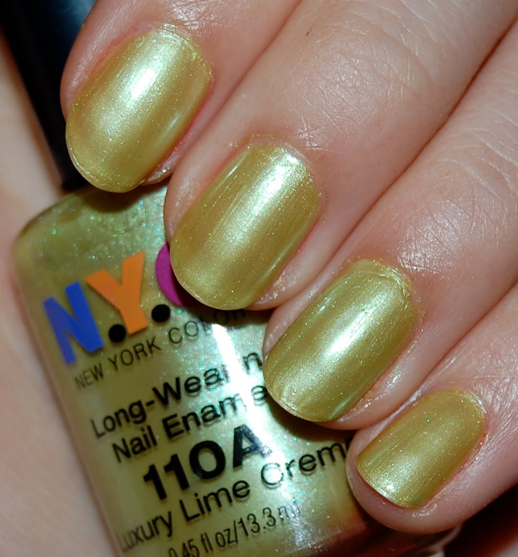 The Makeuptress: Double NOTD: NYC Luxury Lime Creme and Rimmel Green ...