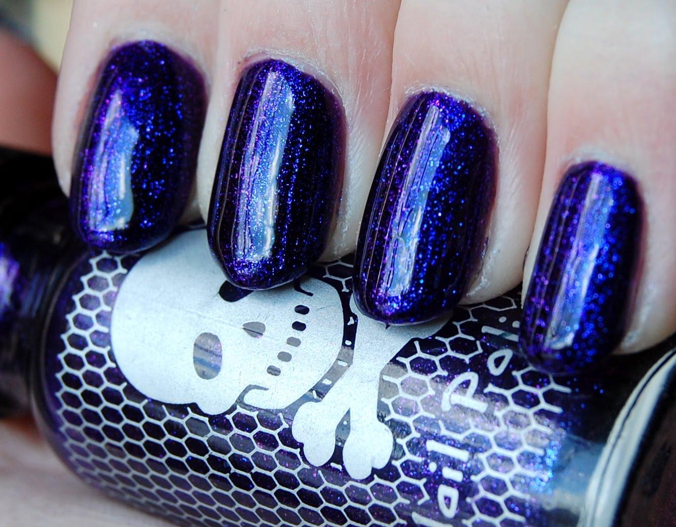 The Nailtress: NOTD: Hot Topic Purple Iridescent Nail Polish