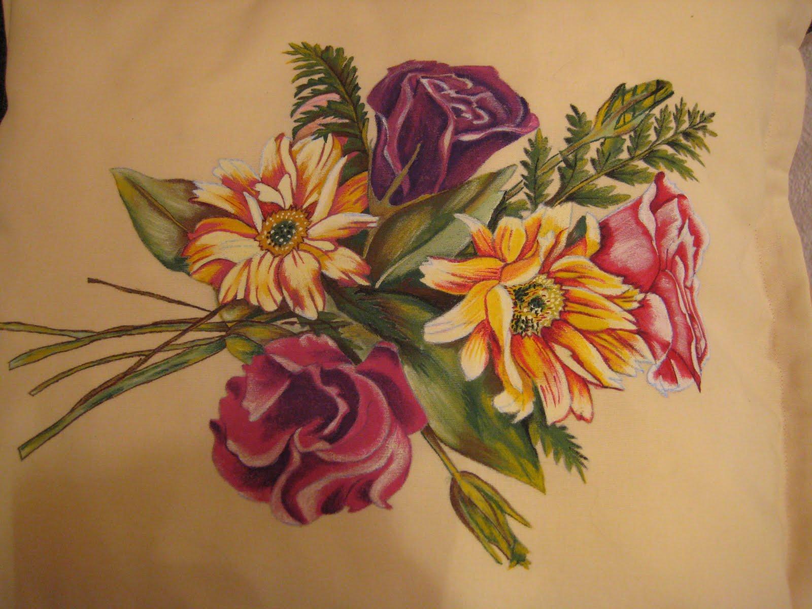 Asociaci n de mujeres mil labores arcoiris pintura en tela - Cojines pintados en tela ...