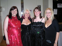 Gorgeous ladies of the Banquet. L to R: Marie O'Regan, Me, Helen Hopley, Sharna Connor