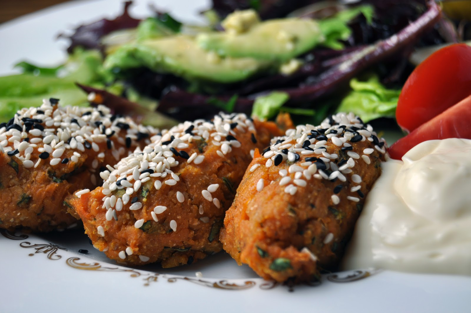 Impeccable Taste: Sweet Potato Falafel and a Green Salad