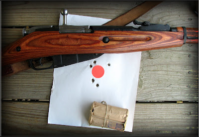Range time with a Mosin 91/30, to celebrate the Heller decision!