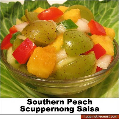 Southern Peach Scuppernong Salsa