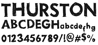 Hand Drawn Fonts-Thurston Erc