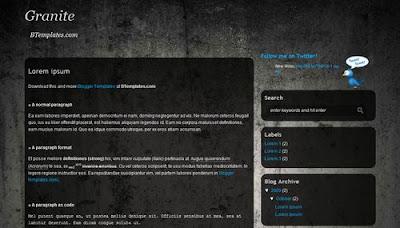 best blogger templates-Granite